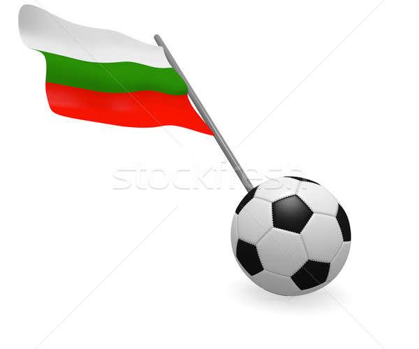 Futballabda zászló Bulgária futball csapat fekete Stock fotó © andreasberheide