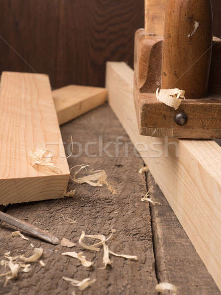 Old used carpenter tools Stock photo © andreasberheide