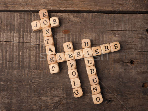 German career concept with crosswords Stock photo © andreasberheide