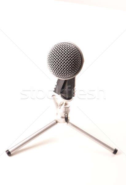 микрофона белый музыку Новости оратора Сток-фото © andreasberheide