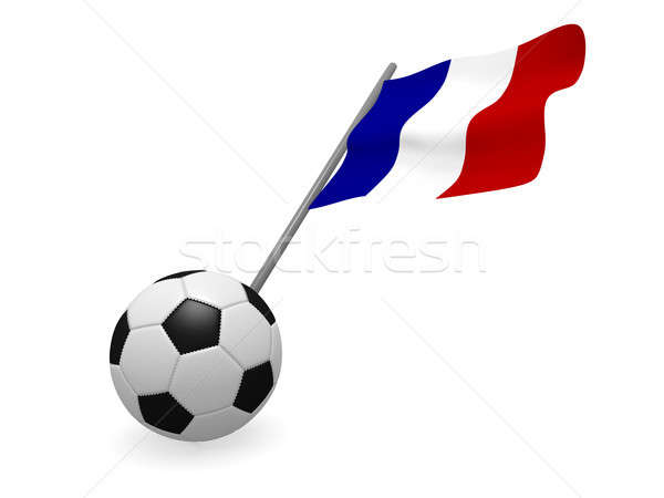 Soccer ball with the flag of France Stock photo © andreasberheide