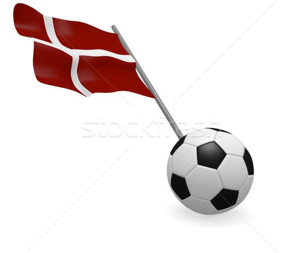 Futebol bandeira Dinamarca branco futebol esportes Foto stock © andreasberheide