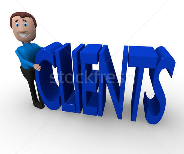 Searching for clients, 3d renderings Stock photo © andreasberheide