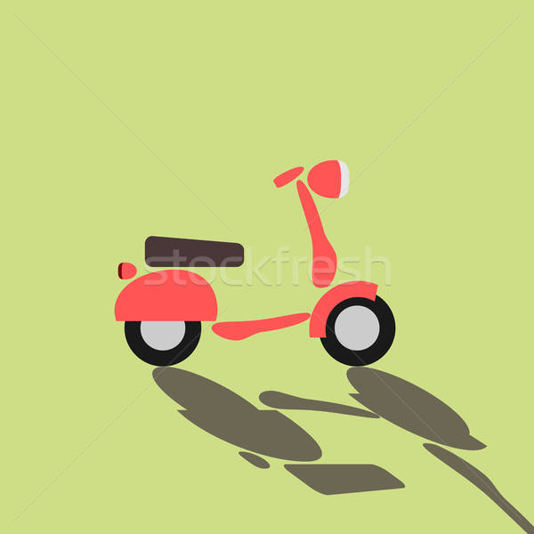 Retro scooter on a green background Stock photo © andreasberheide
