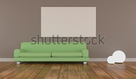 Mock up poster with green couch Stock photo © andreasberheide