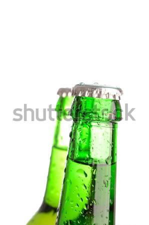 ストックフォト: 新鮮な · 冷たい · ビール · 2 · ボトル · 値下がり