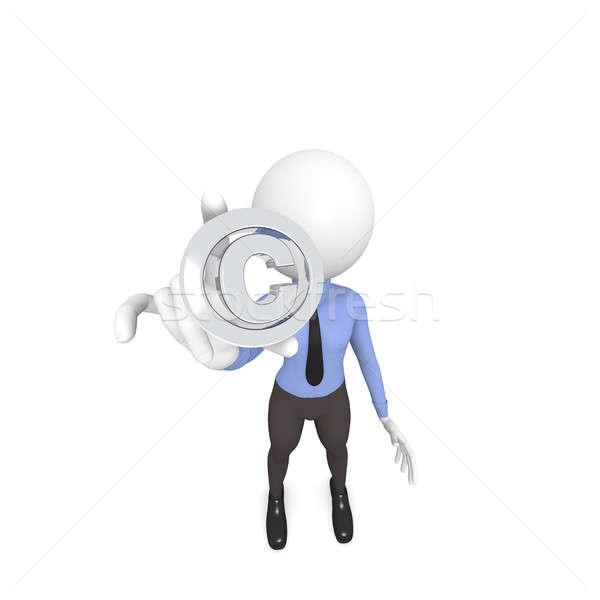 Telif hakkı ikon 3D iş karakter arka plan Stok fotoğraf © andreasberheide