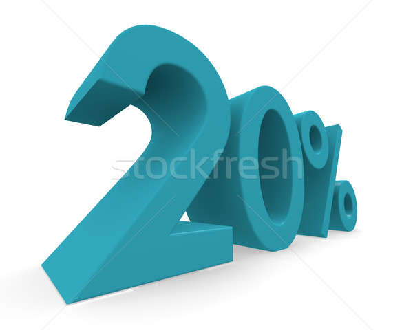 Twenty percent 3d rendering Stock photo © andreasberheide