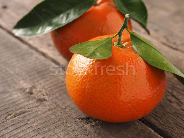 Kettő friss narancs gyümölcsök fa organikus Stock fotó © andreasberheide