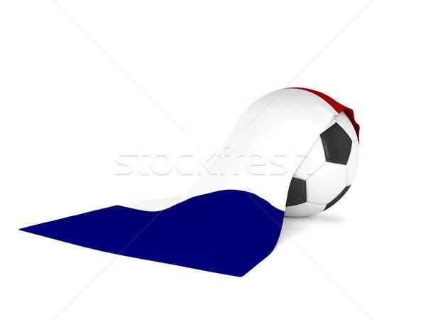 Futballabda zászló Franciaország francia futball bajnokság Stock fotó © andreasberheide