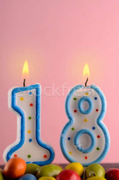 рождения числа восемнадцати розовый пространстве Сток-фото © andreasberheide