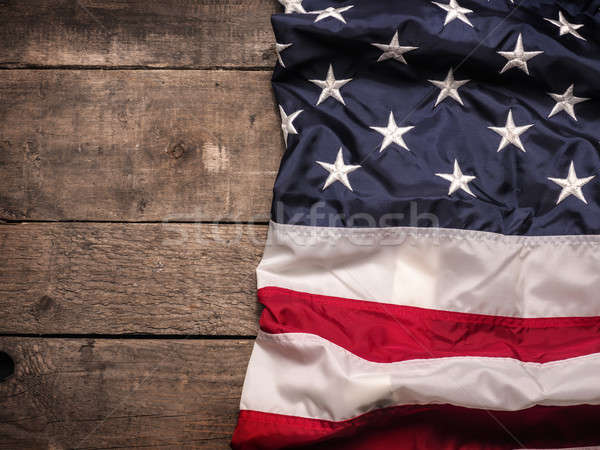 American flag on wood Stock photo © andreasberheide