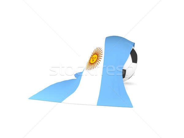 Futballabda zászló Argentína argentín futball bajnokság Stock fotó © andreasberheide