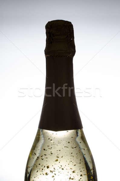 Golden sparkling wine Stock photo © andreasberheide