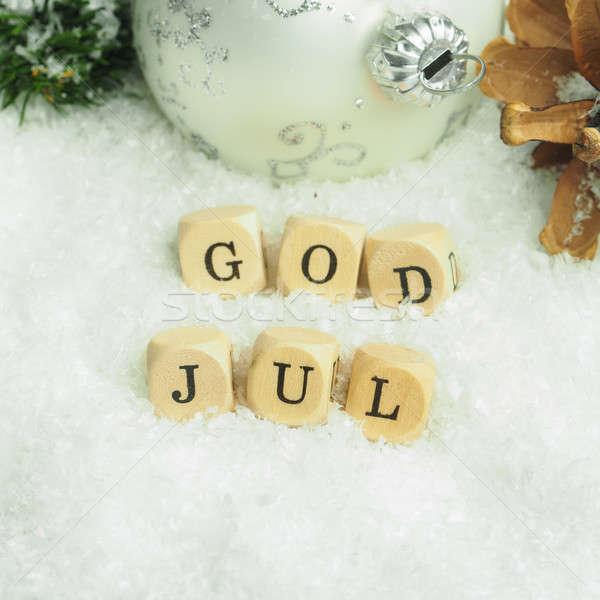 Scandinavian Merry Christmas Stock photo © andreasberheide