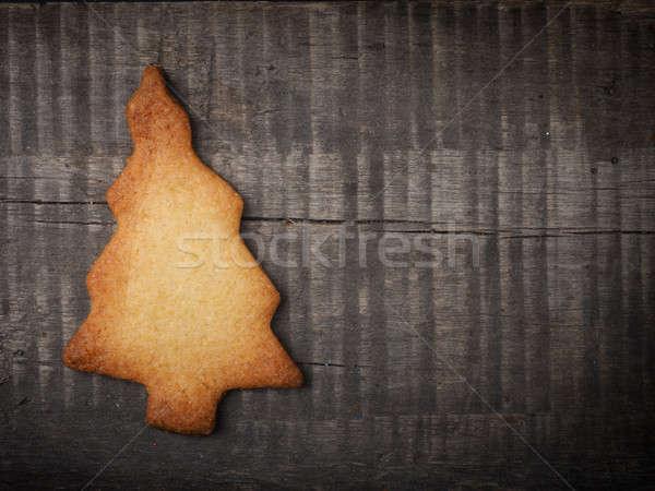 Karácsony süti fa karácsonyfa alakú fából készült Stock fotó © andreasberheide