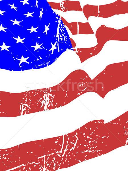 American flag waving Stock Vectors, Illustrations and