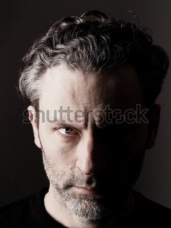 Siyah beyaz farklı adam portre bir stüdyo Stok fotoğraf © andreasberheide