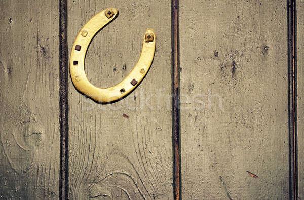 Dorado herradura edad verde puerta Foto stock © andreasberheide