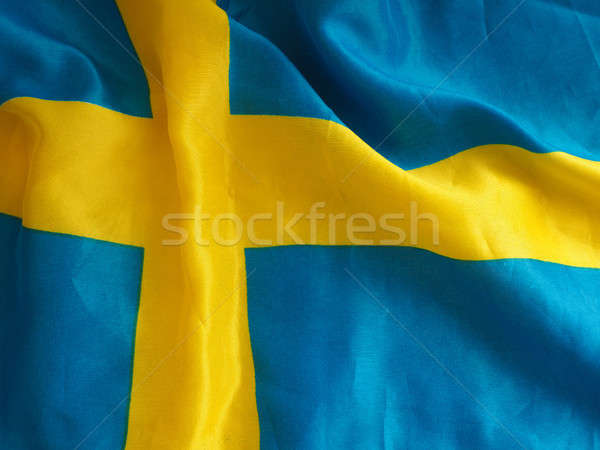 Swedish flag background Stock photo © andreasberheide