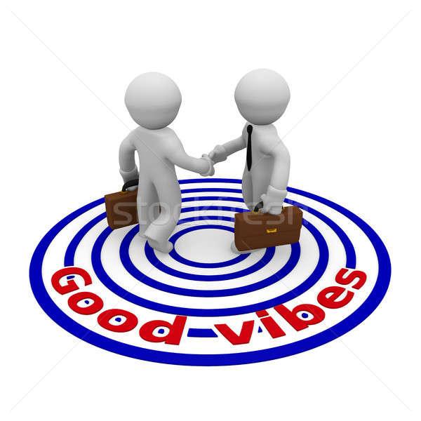 ストックフォト: 良い · ビジネスマン · 握手 · 2 · 中小企業 · 文字