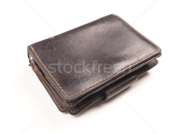 Old used wallet on white Stock photo © andreasberheide