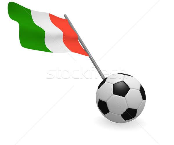 Ballon drapeau italien blanche football équipe noir Photo stock © andreasberheide