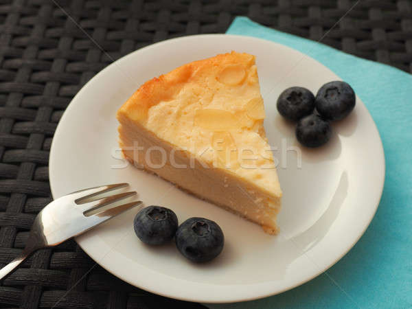 Cheesecake with blueberries Stock photo © andreasberheide