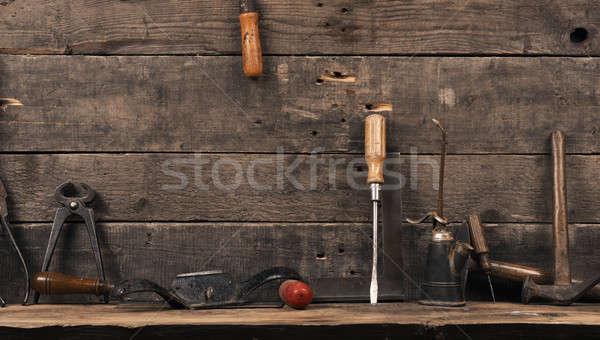 Vecchio usato falegname strumenti legno legno Foto d'archivio © andreasberheide