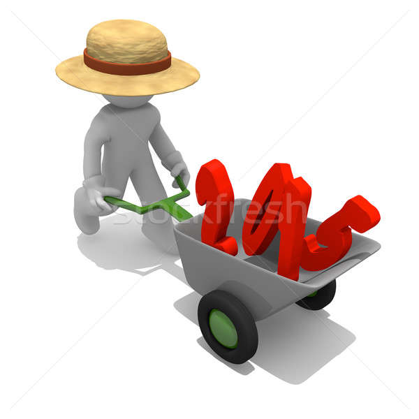 Gardener with red 2015 Stock photo © andreasberheide