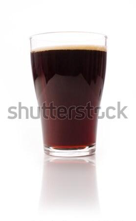 Glas mout bier witte studio licht Stockfoto © andreasberheide