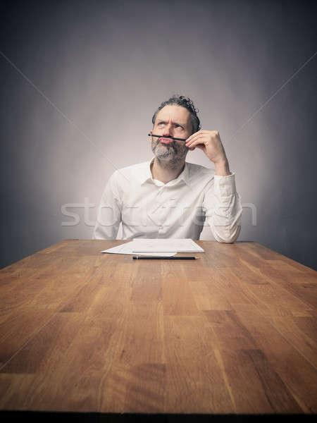 Crazy деловой человек работу рабочих служба Сток-фото © andreasberheide