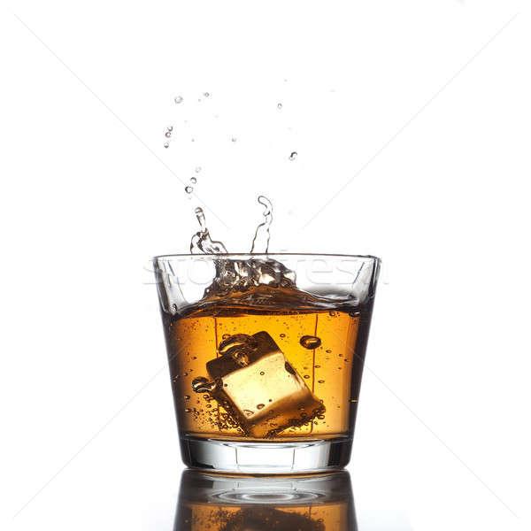Csobbanás friss ital dzsúz sör jégkocka Stock fotó © andreasberheide