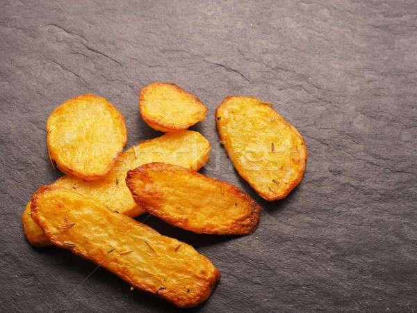 картофеля темно пространстве текста Сток-фото © andreasberheide