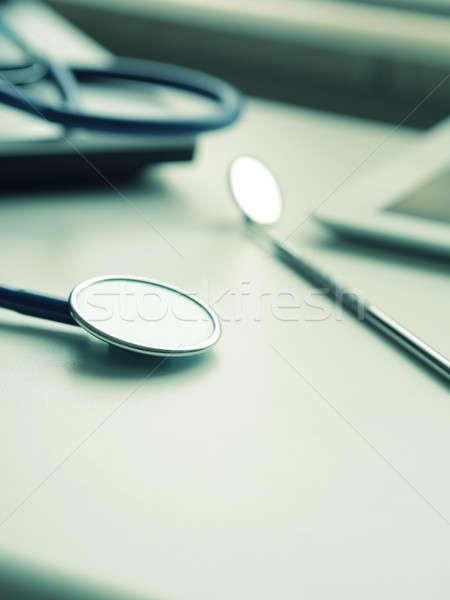 Egészségügy kép orvosi kellékek laptop táblagép Stock fotó © andreasberheide