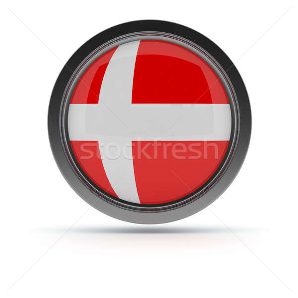 Steel badge with Danish flag Stock photo © andreasberheide