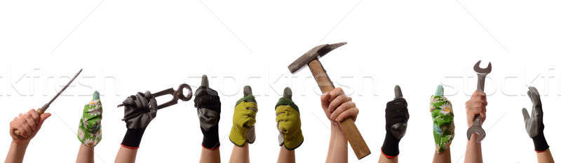 Female hands with tools  Stock photo © andreasberheide