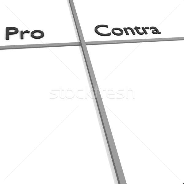 Pro and Contra Stock photo © andreasberheide