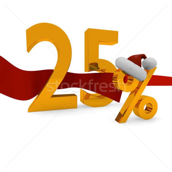 25 por cento natal desconto feliz Foto stock © andreasberheide