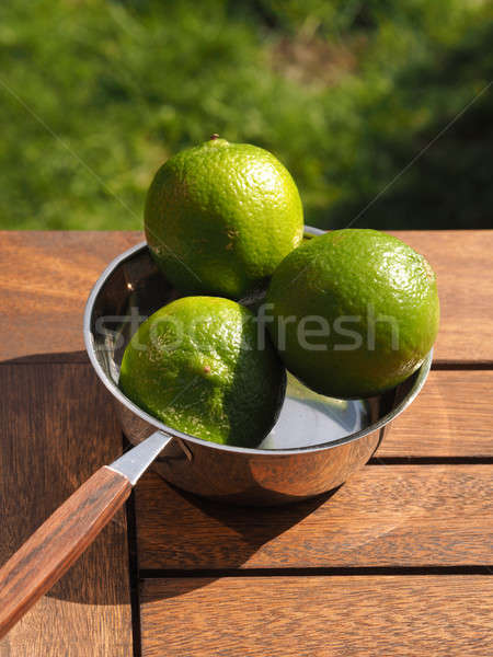Three organic lime fruits Stock photo © andreasberheide