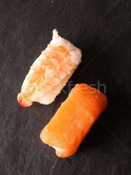 Two sushi nigiri, top view Stock photo © andreasberheide