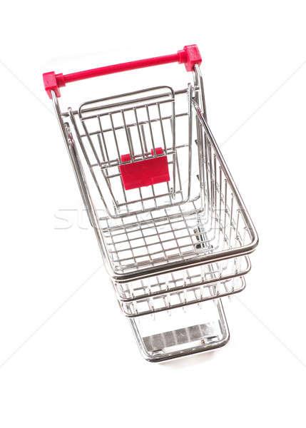Empty shopping cart on white Stock photo © andreasberheide