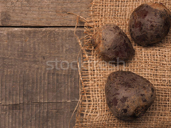 Three organic beet root Stock photo © andreasberheide