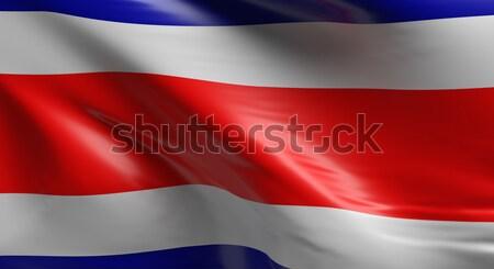 Flag of Costa Rica Stock photo © andreasberheide