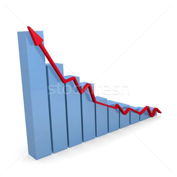 Business graph in blue , 3d rendering Stock photo © andreasberheide