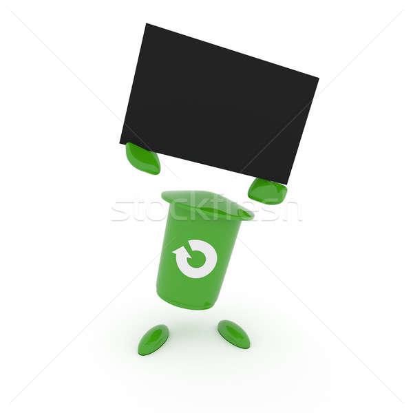 зеленый мусора белый икона Сток-фото © andreasberheide