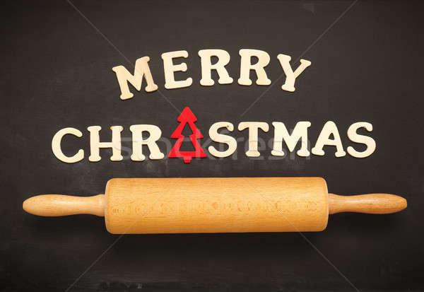 Allegro Natale lavagna stagionale lavagna parole Foto d'archivio © andreasberheide