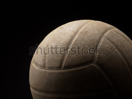 Fechar vintage voleibol velho usado escuro Foto stock © andreasberheide