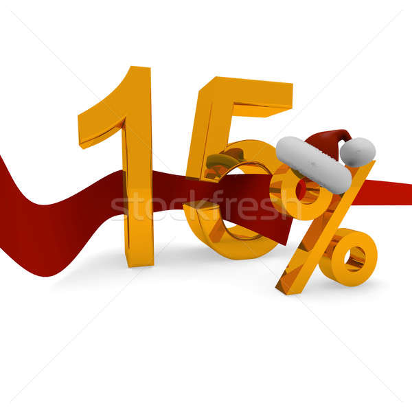 15 procent korting christmas gelukkig Stockfoto © andreasberheide