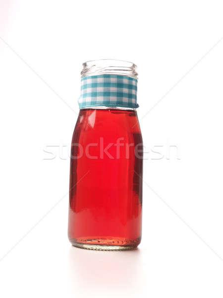 красный органический сока бутылку белый продовольствие Сток-фото © andreasberheide
